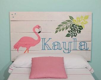 Headboard Bed wood craft child Flamenco