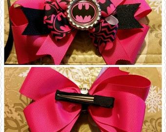 Pink Batman Bow