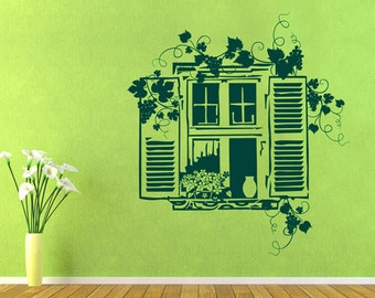 rvz1012 Wall Vinyl Sticker Bedroom Decal Window Wine