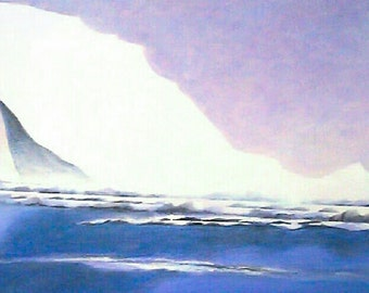 """Last of the Icebergs. Disappearing Arctic. """"Upward Reach"""""""