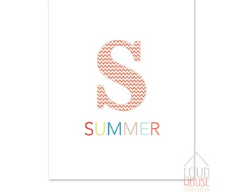 Summer Printable Sign, Instant Download, Summer Wall Art