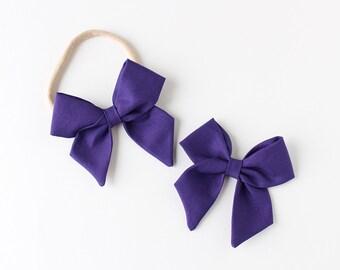 """Amethyst Fabric """"Dahlia"""" Bow"""