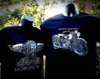 1938 Indian Scout Motorcycle T shirt