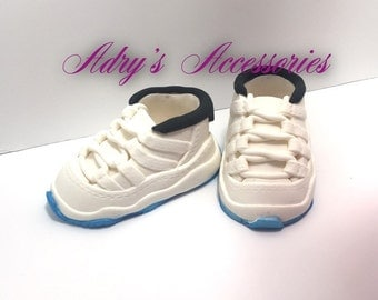 Gum Paste Baby Boy Sneakers Cake Topper
