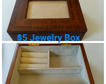 Beautiful 80's Wood Jewelry Box