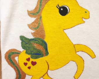 Pegasus the Flying Horse Hand Painted Gerber Onesie