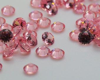 5mm Round Light Rose Cubic Zirconia, Loose Stones, Jewelry DIY