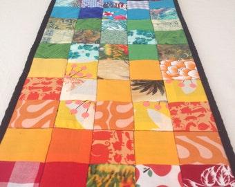 Table Runner Rainbow patchwork boho-decor