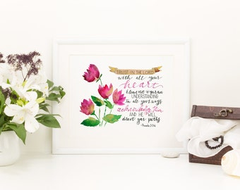 Trust in the Lord with Pink Tulips