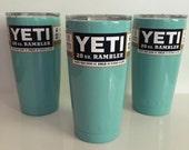 SEAFOAM* Powder Coated Yeti Cup,  20oz,  30oz Yeti Rambler, Yeti Colsters and Yeti Water bottle, Monogramming Avail. Ships within 2-7 days!