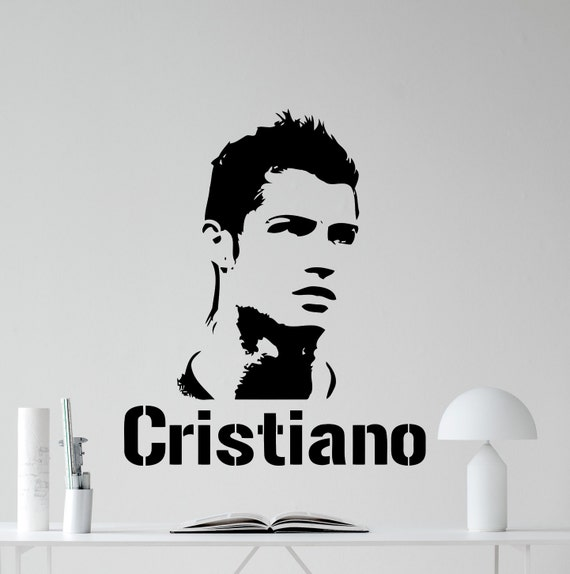 Cristiano ronaldo decal real madrid cr7 football by for Cristiano ronaldo wall mural