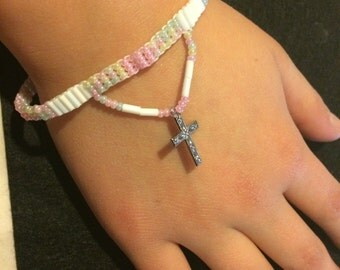 Kids bracelet with cross