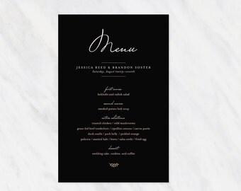 Printed Wedding Menus -  Day Of Wedding Items -  cherry blossom suite -  printed set -  formal