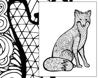 cat coloring page advanced coloring page adult coloring