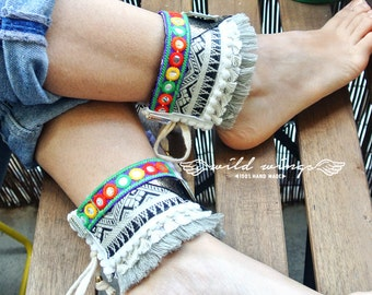 Bracelet for sandals,Bohemian ankle cuffs,gypsy hippie boho layer boots wild,girly hipster ankle cuffs,Boho Anklets,Boho boots covers