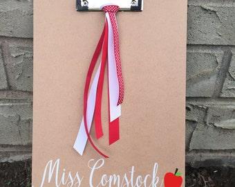 Personalized teacher clipboard, teacher gift,personalized teacher gift, teacher appreciation, teach, teaching, decorative clipboard, teacher
