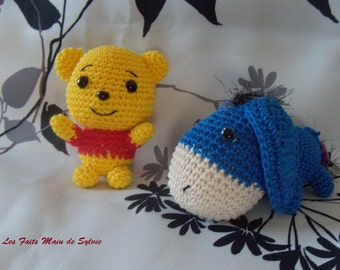 Pooh and Eeyore mini crochet