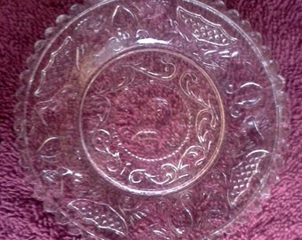 Westmoreland Henry Clay Pattern Clear Crystal Plate