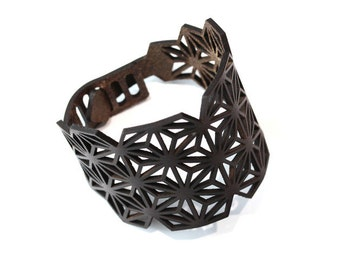 "Leather armwrist ""Star No1"""