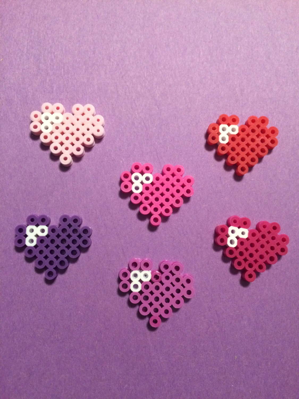 Pokemon Perler Bead Sprite Pokeball Heart Cute Hama Bead Pixel |Perler Bead Heart