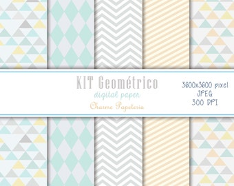 SALE Geometric digital paper pack