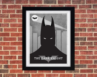 Batman The Dark Knight Digital Art Print