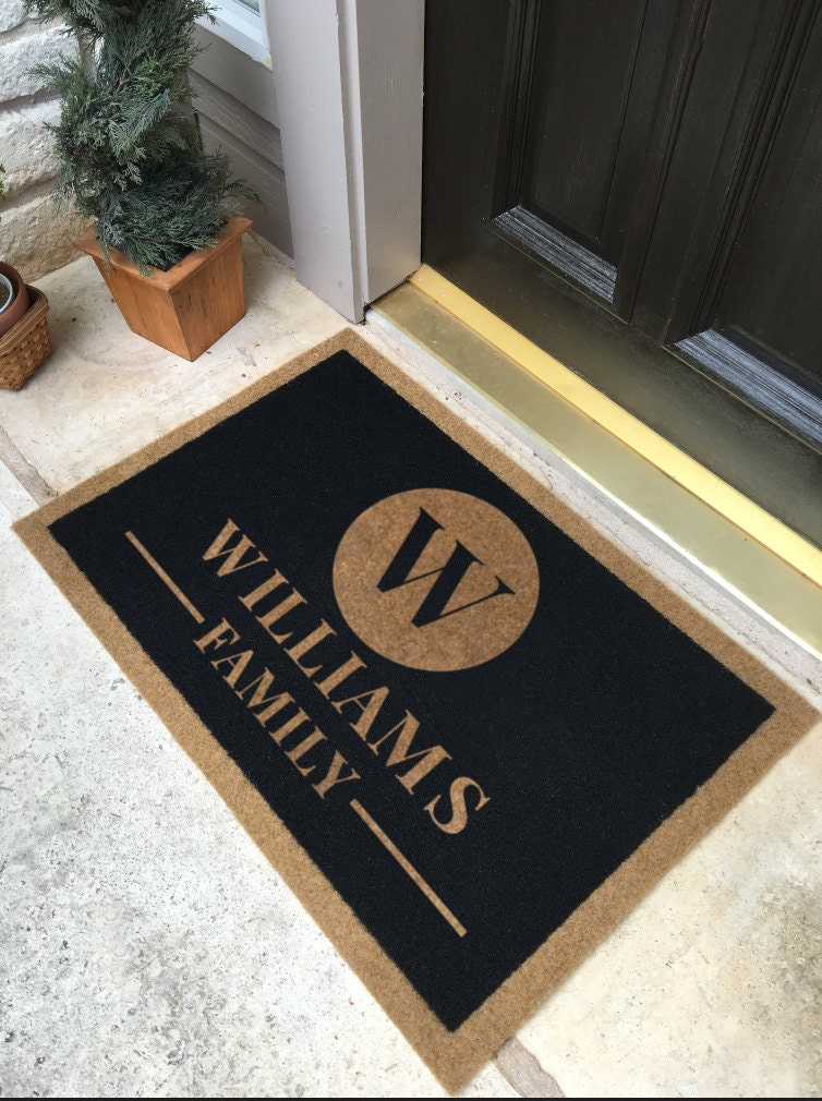 The most durable and elegant custom door mat available - Front door mats as a guest greeting tool ...