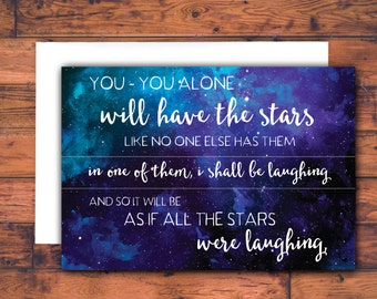 you will have the stars - sympathy card, grief card, bereavement card