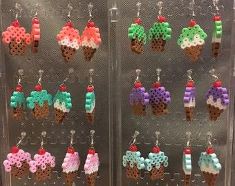 Cupcake or Ice Cream Cone Earrings