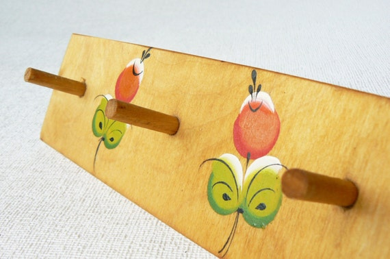 Vintage wooden wall hanger wall hooks for kids room by for Kids room hooks