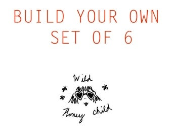 Build Your Own Set of 6 Letterpress Stationery Cards
