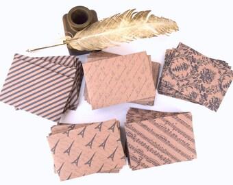 Set of 10 SMALL Kraft envelopes,rustic envelopes,kraft Paper Gift Card Envelopes,bridesmaid cards, thank you cards,handmade envelopes