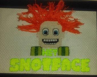 Drop Dead Fred cross stitch