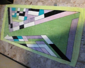FOUND bath towel Colorful Pucci  iconic abstract mod 70s Divine 1 Bath  2 hand  2 face towels complete set