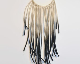 Macrame Wall Hanging: Black Ombre