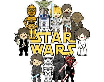 Cute characters Star Wars clipart