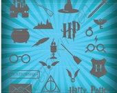 Harry Potter Inspired Designs, 21 of them, SVG, EPS, DXF, Silhouette, Cricut, Vector, Instant Download, Cutting Template, Cutting File, Htv