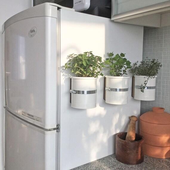 Magnetic plantador de auto-rega.  Imã de geladeira.