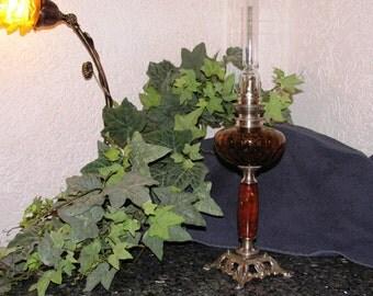 Restored antique oil lamp