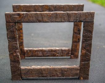 rustic wood coffee table legs