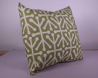 Green and White Cushion Cover (45cm x 45cm)