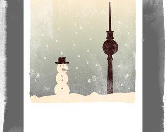 Polaroid postcard - Berlin in winter