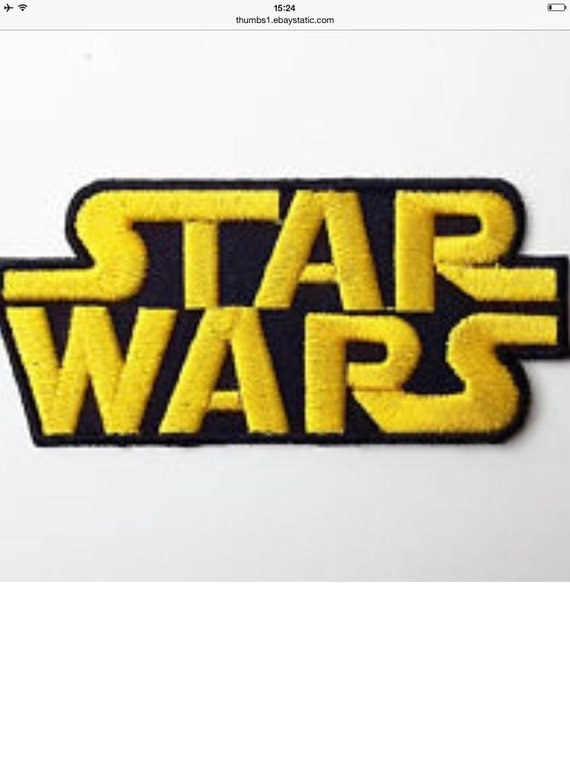 star wars classic logo embroidered ironon movie patch