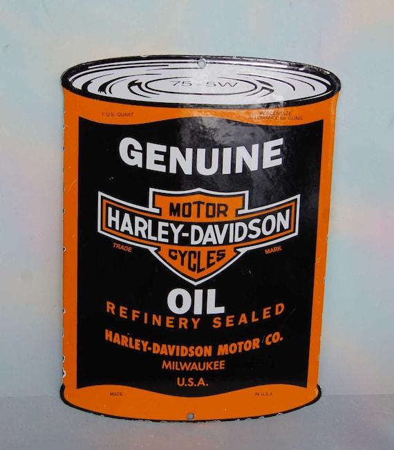 Vintage Harley Davidson Motor Oil Porcelain By
