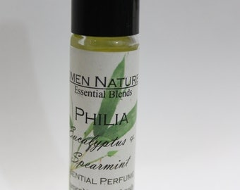 Philia:   A very special blend of spearmint and  eucalyptus.