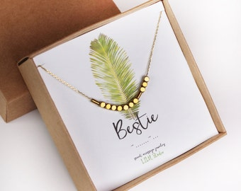 Best friend gift, Morse code necklace, bestfriend necklace, Morse code bracelet, best friend bracelet, bestie Morse code, gold Morse code