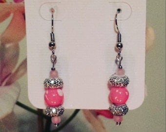 "Pink ""Always Sparkle"" earrings"