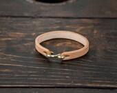 Made to Order Vegtan leather Bracelet Mens Leather Cuff S hook leather cuff S Nickel Brass leather bracelet mens cuff mens bracelet