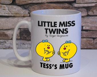 Two Personalised Little Miss Twins mugs