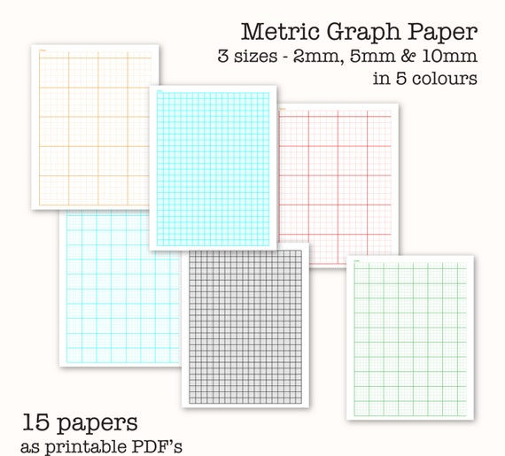 15 Metric Scale Graph Papers   Digital Graph Paper, PDF, Printable, Instant  Download From Paper4download On Etsy Studio  Graph Sheet Download